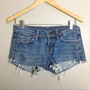 Citizens of Humanity Naomi #065 Cutoff Shorts Blue